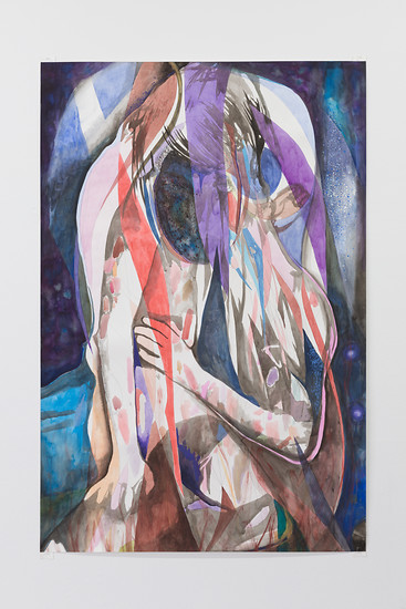 The Hounds of Love (The Night, the night), 2018/19 – 150  x 100 cm; Bleistift, Tusche, Aquarell, Gouache auf Papier; Foto: Annette Kradisch